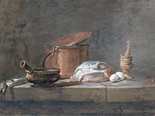 Still Life with Leeks Casserole Cloth by Jean-Simeon Chardin Accent Tile Mural Kitchen Bathroom Wall Backsplash Behind Stove Range Sink Splashback One Tile 8