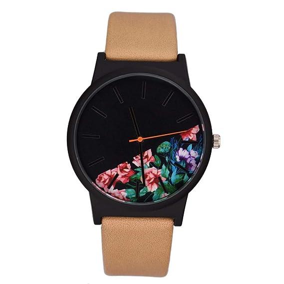 Yivise Moda para Mujer Reloj de Pulsera Sencillo Reloj con ...