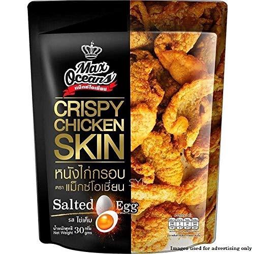 Max Oceans Brand, Crispy Fried Chicken, Crispy Chicken Skin, Salted Egg Flavour, Size 30g X 4 Packs