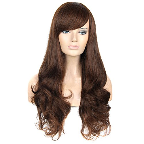 FCL Sexy Wavy Wig Women Long Brown Cosplay Wigs (Sexy Wig)