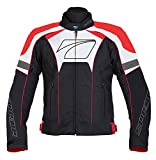 Spada Burnout Sports Textile Waterproof Motorcycle Jacket - Black/Red/White L