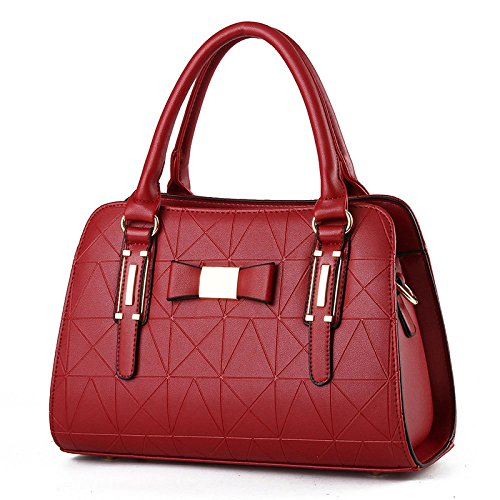 New Travel Leather 2018 Winered Bag Middle PU Shopping Bag Shoulder Lady Bag aged Messenger x0wRqSnRdF
