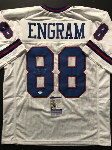huge discount 80faf 22dcf Amazon.com: Evan Engram Autographed Jersey - Color Rush COA ...