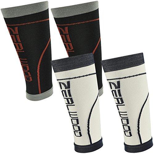 Hot Cycling Compression Calf Sleeve, ZEALWOOD Compression Socks for Shin Splint & Calf Pain Relief,Compression Basketball Socks,Compression Gym Training Socks for cheap
