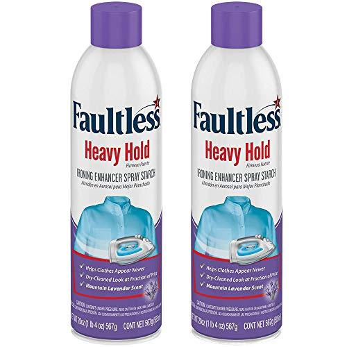 Faultless Professional Formula Fresh Heavy Starch Mountain Lavender Scent 2/20 Ounce Containers Included