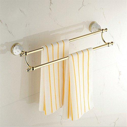 rentianleMJJ Tower Hanger Towel Racks Antique European Diamond Platinum Towel Bar Bathroom Towel Rack Bathroom Bathroom Double Bar Shelf