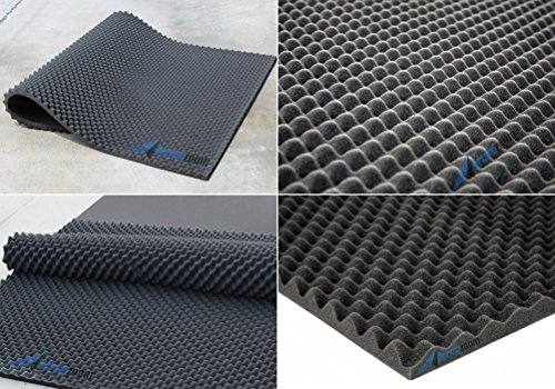 Arrowzoom New 1 Pack of 2 Meter (78.7 X 59 X 1.2 Inches) Convoluted Foam Soundproofing Insulation Egg Crate Roll Acoustic Wall Foam Padding Studio Foam Sheet Tiles AZ1132 (BLACK) by Arrowzoom Egg Crate Acoustic Foam (Image #4)