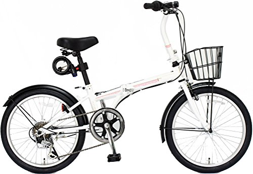 [해외] JEFFERYS(제후 leads) AMADEUS 20인치 접이식 자전거 FDB206 시마노6 단변속 전후 (자동차 등의) 흙받이/바구니/LED라이트/와이어 그린 표범준 장비 JP8572