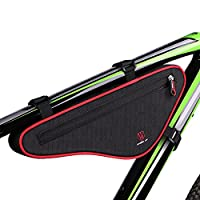 XPhonew Cycling Bicycle Bike Bag Top Tube Triangle Bag Front Saddle Frame Pouch Outdoor MTB Road Bike Front Bag with Reflective Stripe