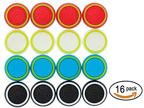 Thumb Stick Grips Caps Cover Replacement for PS4 PS3 PS2 Xbox One/360 /Game Controller/ Silicone Analog Controller Joystick/ 8 Pairs/16 Pcs Review