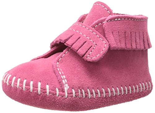Next Shoes Kids (Minnetonka Front Strap Bootie (Infant/Toddler),Pink,6 M US Toddler)