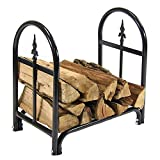 Sunnydaze 2-Foot Firewood Log Rack, Indoor/Outdoor Decorative Wood Storage Stacker