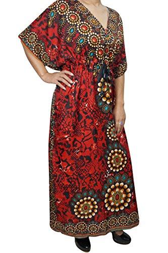 Orange Kleid Kimono Kastanienbraun Einheitsgröße Mogul Damen Orange Interior wTqFBxI