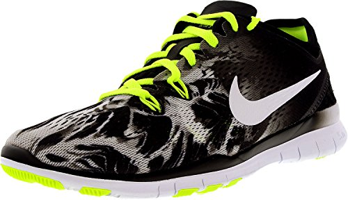 Nike Women's Free 5.0 Tr Fit 5 PRT Black/White/Volt Ankle-High Cross Trainer Shoe - 5M by Nike (Image #1)