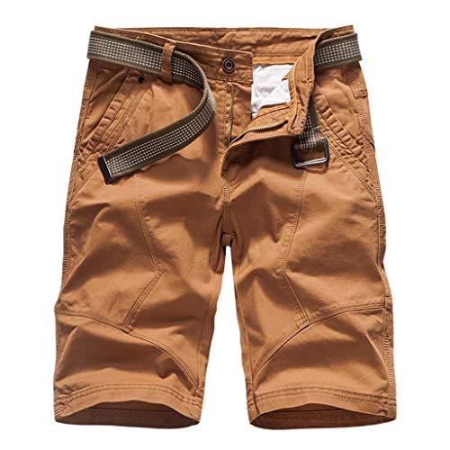 In Cargo Esecuzione Corti Arancia Lavoro Shorts Pantaloncini pocket Byste Solido Casuale Con Cotone Uomo Pantaloni All'aperto Cintura Multi Colore 6WqHOwZ7
