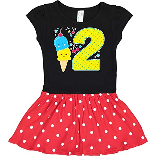 (inktastic - Ice Cream Infant Dress 24 Months Black & Red with Polka Dots 2f6e8)