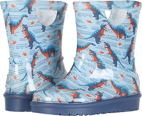UGG Baby T RAHJEE Desert Dino Rain Boot, Ballad Blue, 8 M US Toddler (In The Uggs Rain)