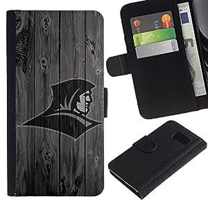 A-type (Asistente de Deportes) Colorida Impresión Funda Cuero Monedero Caja Bolsa Cubierta Caja Piel Card Slots Para Samsung Galaxy S6