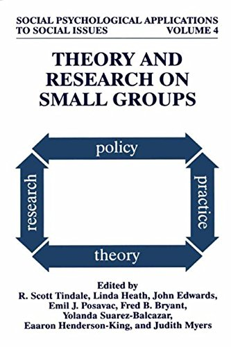 Books : Theory and Research on Small Groups (Social Psychological Applications To Social Issues)