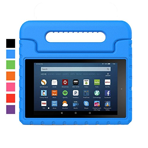 Sztook Case for All-New Amazon Fire HD 8 (2016 6th Generation) - Kids Shock Proof Convertible Handle Light Weight Protective Stand Cover Case for Fire HD 8 Tablet (6th Gen, 2016 release Only),Blue