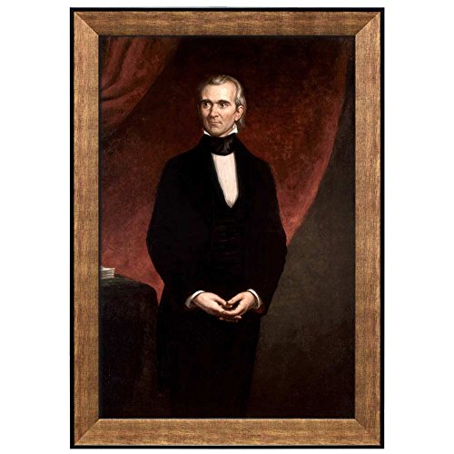 Portrait of James K Polk by George Peter Alexander Healy (11th President of the United States) American Presidents Series Framed Art Print