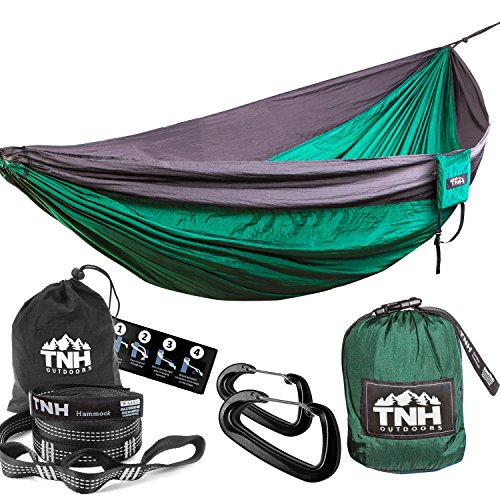 ultimate-doublenest-camping-hammock-free-hi-viz-reflective-tree-straps-by-tnh-outdoors-double-parach