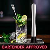 Hiware 10 Inch Stainless Steel Cocktail Muddler and