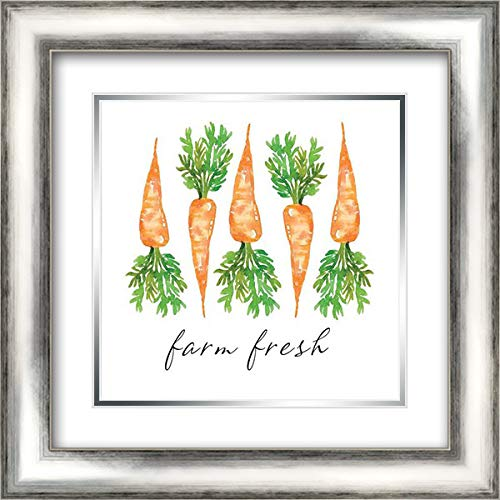 Fresh Farm Carrots - Farm Fresh Carrots 20x20 Silver Contemporary Wood Framed and Double Matted Art Print by Engh, Elise