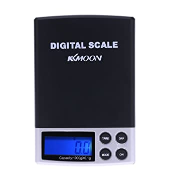 Trudged(TM) 1000g x 0.1g balanzas digitales bascula digital Mini Digital Scale Precision