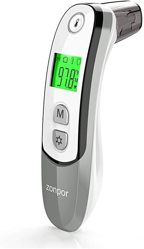 Children Forehead Thermometer for Kids Toddler Scan Head Thermometer for Adults Ear Fever Thermometer for Baby Forhead Temperature Thermometer Medical Digital Infrared Temporal Thermometer