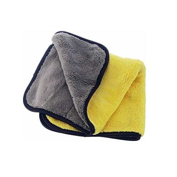 Auto Hub Heavy Microfiber Cloth for Car Cleaning and Detailing, Dual Sided, Extra Thick Plush Microfiber Towel Lint-Free