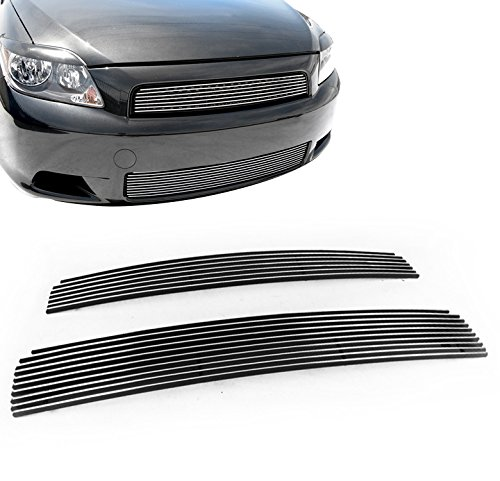 Upper 4 Piece Grille Grill - ZMAUTOPARTS Scion Tc Front Upper + Bumper Lower Billet Grille Grill Insert 2Pcs