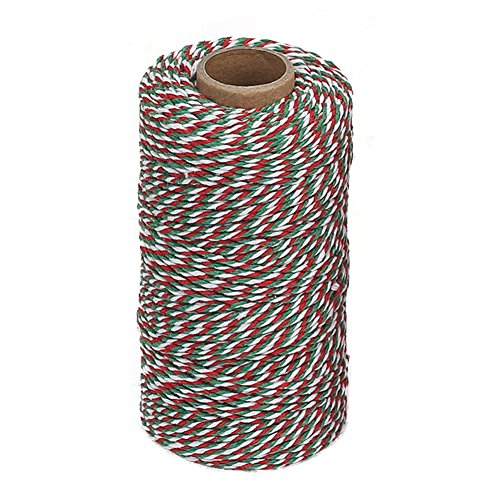 Vivifying Cotton String 328 Feet Packing Twine for DIY Crafts Christmas Gift Wrapping
