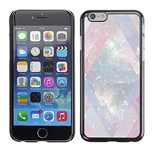 FECELL CITY // Duro Aluminio Pegatina PC Caso decorativo Funda Carcasa de Protección para Apple Iphone 6 Plus 5.5 // Universe Mysterious Cosmos Stars Lines