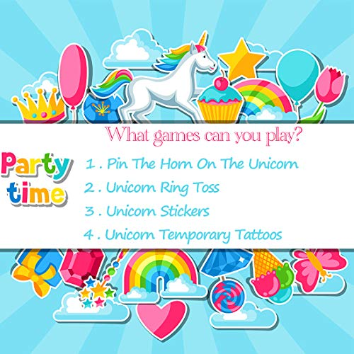 Genius Duck Unicorn Party Games Set - Perfect for Outdoor and Indoor Games  Event - Take Your Unicorn Party to the Next Level, Suitable for Both Kids