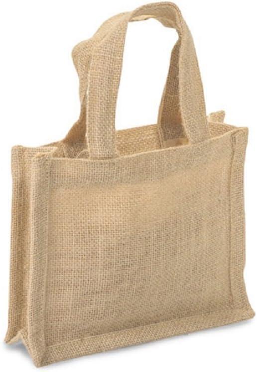 Amazon.com: Pequeñas bolsas de regalo de yute 100% natural ...