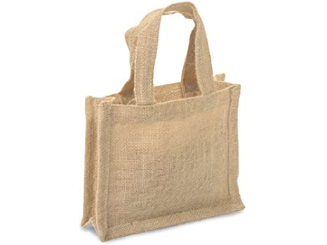 Amazon.com: Pequeñas bolsas de regalo de yute 100% natural ...