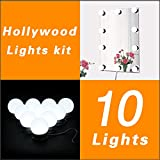 WanEway Hollywood Style LED Vanity Mirror Lights Kit for Makeup Dressing Table Vanity Set Mirrors with Dimmer and Power Supply Plug in Lighting Fixture Strip, 13.5ft, Mirror Not Included [Energy Class A+]