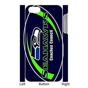Custom Your Own Personalized NFL Seattle Seahawks iPhone 5 Case, Snap On Hard Protective Seattle Seahawks iPhone 5 Case Cover