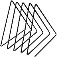 رف كتب المكتب العمودي من Garneck لخزانة الكتب على شكل مثلث على شكل حامل للجرائد فنية منظم صورة لمكتب المنزل (أسود)