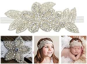 0fd28b79124aa Amazon.com  CrepeMyrtle 2 pcs Baby Girl Headbands