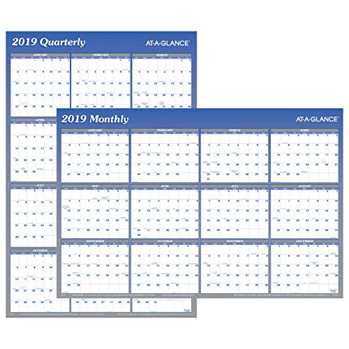 Planner Erasable (AT-A-GLANCE 2019 Yearly Wall Calendar / Planner, 36