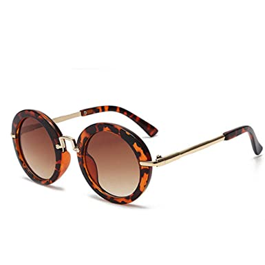 Wang-RX Redondo adorable niños gafas de sol niñas gafas ...
