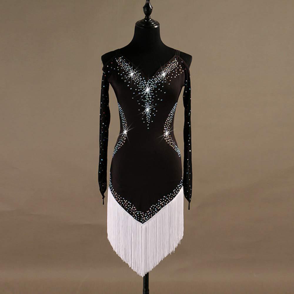 予約販売 ラテンダンスドレス女性のパフォーマンススパンデックスタッセル結晶ラインストーン長袖ドレス B07PBSY1NT B07PBSY1NT XL|White XL|White White XL XL, ママズフィッシングハウス:d36c8f10 --- a0267596.xsph.ru