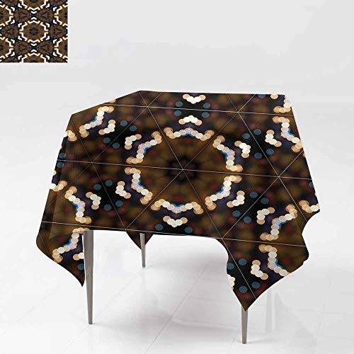 - Fbdace Resistant Table Cover,Abstract Colorful Yellow and Brown Light Wallpaper Texture backg Table Cover for Kitchen Dinning Tabletop Decoratio 36x36 Inch
