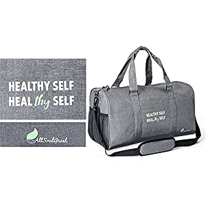 All Soul Great INSPIRATIONAL Travel/Sport Duffel Gym Bag w Shoe Compartment Weekender/Men/Women