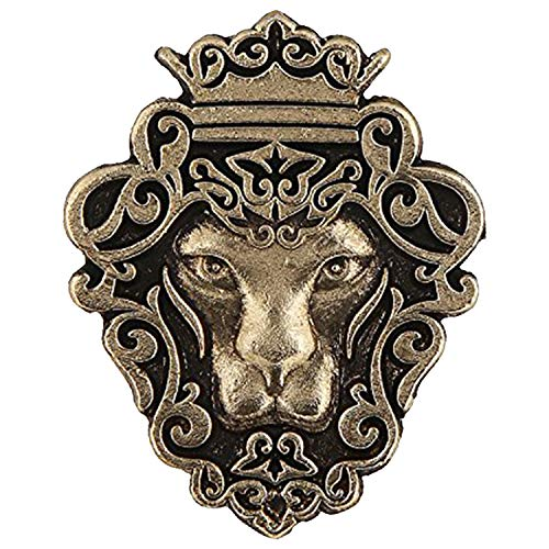 Mahi Gold Plated Lion Shape Tie Tack Lapel Pin Brooch for Men BP1101015G