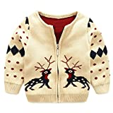 Product review for UWESPRING Kids Boy's Thick Knit Coat Christmas Deer Sweater Cardigan
