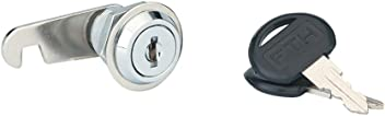 Serrurerie de Picardie 00817920 Cam Lock Nickel-Plated Length 20 mm for Maximum Thickness 14 mm with 2 Keys