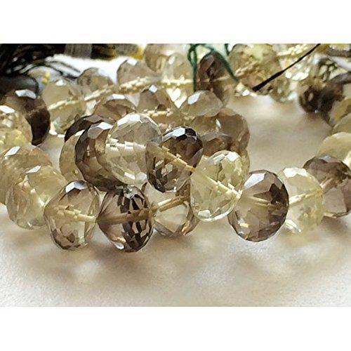 (JP_Beads 1 Strand Natural Lemon Quartz - Lemon Solitaire Beads, Lemon Concave Trillion Faceted Beads, Lemon Gemstone 8